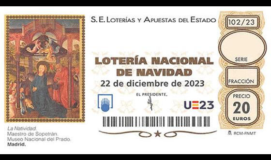 Comprar décimos número 284 Lotería de Navidad 2020